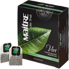 Чай зеленый в пакетиках для чашки Maitre, 100*2 г