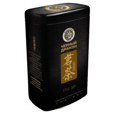Чай черный листовой Черный дракон Пу Эр, ж/б, 100 г