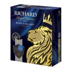 Чай черный в пакетиках для чашки Richard Royal Earl Grey, 100*2 г