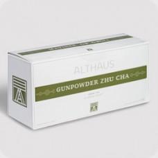 Чай зеленый в пакетиках для чайника Althaus Gunpowder Zhu Cha (Альтхаус Ганпаудер Жу Ча), 20*4 г