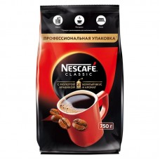 Кофе растворимый Nescafe Classic c молотой арабикой, м/у, 750 г