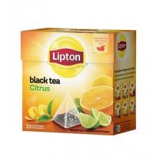 Черный чай в пирамидках Lipton Citrus, 20*1,8 г