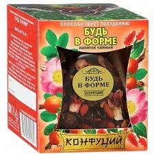 Чай фруктовый листовой Конфуций Будь в форме, банка, 65 г