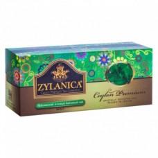 Чай зеленый в пакетиках для чашки Zylanica Ceylon Premium Collection 25*2 гр.