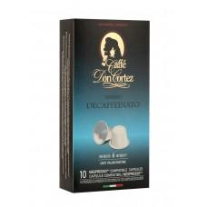Кофе в капсулах Nespresso Carraro Don Cortez Decaffeinato, 10*12 г