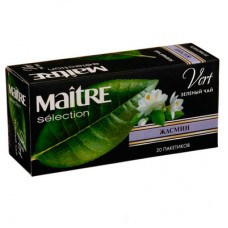 Чай зеленый в пакетиках для чашки Maitre Жасмин, 20*1,8 г