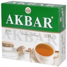 Чай зеленый в пакетиках для чашки Akbar, 100*2 г