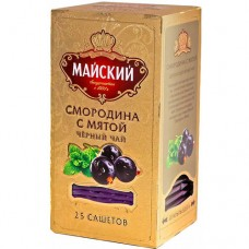 Чай черный в пакетиках для чашки, Майский Смородина с мятой 25*2 г.