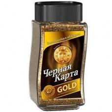 Кофе растворимый Черная карта Gold, банка, 190 г