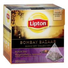 Черный чай в пирамидках Lipton Bombay Bazaar, 20*1,8 г