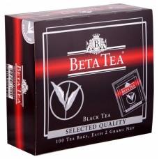 Чай черный в пакетиках для чашки Beta Tea Отборное качество, 100*2 г