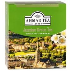 Чай зеленый в пакетиках для чашки Ахмад с жасмином, 100*2 г