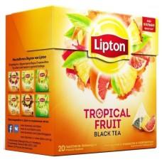 Черный чай в пирамидках Lipton Tropical Fruit, 20*1,8 г