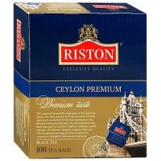 Чай черный в пакетиках для чашки Riston Премиум Цейлонский, 100*2 г