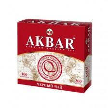 Чай черный в пакетиках для чашки Akbar Классическая серия, 100*2 г