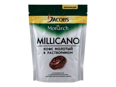 Кофе растворимый Jacobs Monarch Millicano, 250 гр.