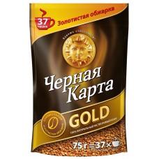 Кофе растворимый Черная карта Gold, м/у, 75 г