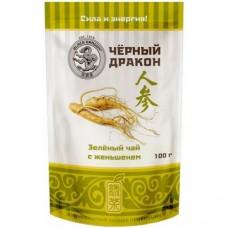 Чай зеленый листовой Черный дракон с женьшенем, м/у, 100 г