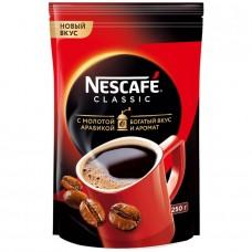 Кофе растворимый Nescafe Classic c молотой арабикой, м/у, 250 г