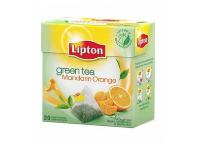 Зеленый чай в пирамидках Lipton Mandarin Orange 20 шт.*1,8 г.