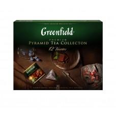 Чай в пирамидках 12 видов (60 штук) Greenfield Collection (Гринфилд Коллекция), 110 г