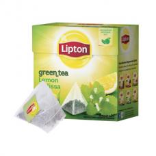 Зеленый чай в пирамидках Lipton Lemon Melissa, 20*1,5 г