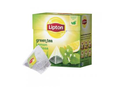 Зеленый чай в пирамидках Lipton Lemon Melissa 20 шт.*1,5 г.