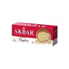 Чай черный в пакетиках для чашки Akbar Ceylon с медалью, 25*2 г