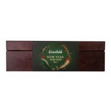 GREENFIELD Набор «Коллекция чая и чайного напитка в подарочной деревянной шкатулке» , 4*8 пак