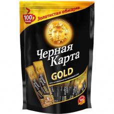 Кофе растворимый Черная карта Gold, м/у, 100*2 г