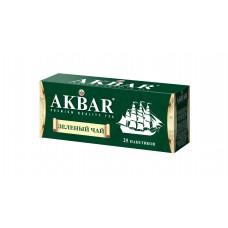 Чай зеленый в пакетиках для чашки Akbar Корабль, 25*2 г