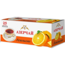 Чай черный в пакетиках для чашки Азерчай Апельсин, 25*1,8 г