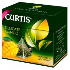 Чай зеленый в пирамидках Curtis Delicate Mango, 20*1,8 г