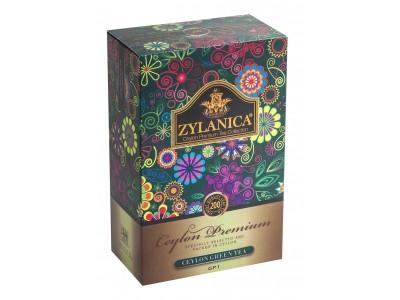 Чай зеленый листовой Zylanica Ceylon Premium Collection, 200 г