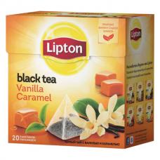 Черный чай в пирамидках Lipton Vanilla Caramel, 20*1,7 г