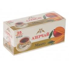 Чай черный в пакетиках для чашки Азерчай Манго, 25*1,8 г