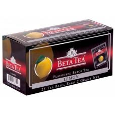 Чай черный в пакетиках для чашки Beta Tea Лимон, 25*2 г