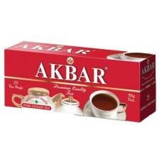 Чай черный в пакетиках для чашки Akbar Red&White, 25*2 г