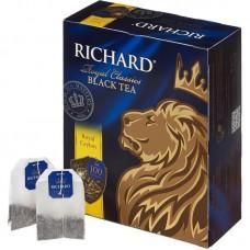 Чай черный в пакетиках для чашки Richard Royal Ceylon, 100*2 г