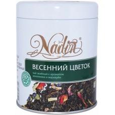 Чай зеленый листовой Nadin Весенний цветок, ж/б, 75 г