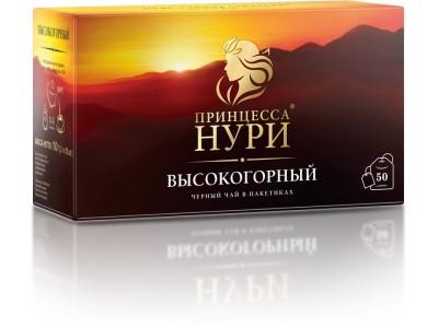 Чай черный в пакетиках для чашки Принцесса Нури Высокогорный, с/я, 50*2 г