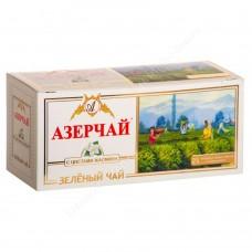 Чай зеленый в пакетиках для чашки Азерчай с жасмином, 25*2 г