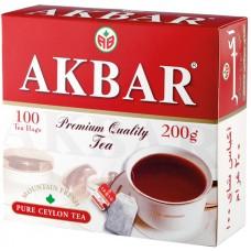 Чай черный в пакетиках для чашки Akbar Red&White, 100*2 г