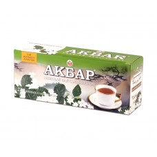 Чай зеленый в пакетиках для чашки Akbar с жасмином, 25*2 г