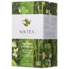 Чай зеленый в пакетиках для чашки Niktea Jasmine Emerald (Никти Жасмин Эмеральд), 25шт.*2 г.