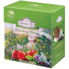 Чай зеленый в пирамидках Ахмад Клубничный мусс, 20*1,8 г