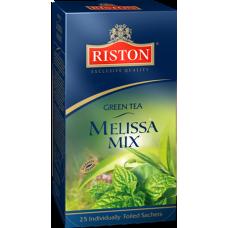 Чай зеленый в пакетиках для чашки Riston Мелисса, 25*2 г