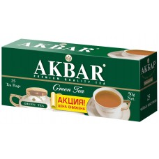 Чай зеленый в пакетиках для чашки Akbar Изумрудная серия, 25*2 г