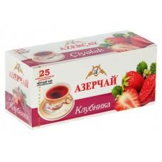 Чай черный в пакетиках для чашки Азерчай Клубника, 25*1,8 г
