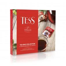 Набор черного и зеленого чая в пакетиках 12 видов TESS COLLECTION (ТЕСС коллекция), 100 г